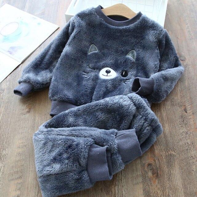 Fleece Animal Print Pajamas 5