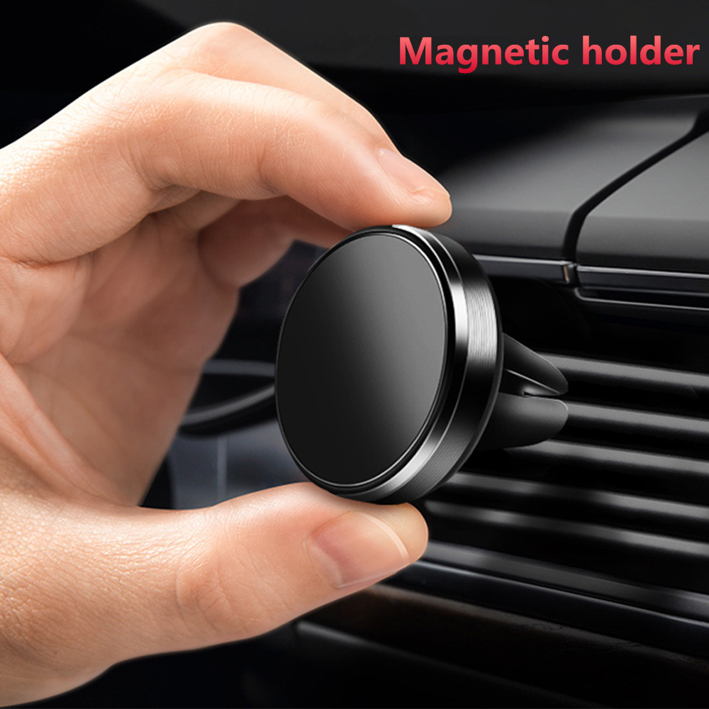 Universal Auto Car Holder Mini Air Vent Strong Magnet Car Mounted Phone Holder Bracket Stand Rack Super Magnet Phone Stand Rack