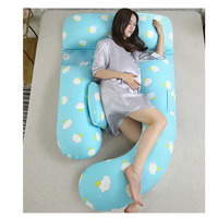 Pregnancy Pillow Body Pillow for Pregnant Women Comfortable G U Shape Cushion Long Side Sleeping Maternity Pillows Removable 3D