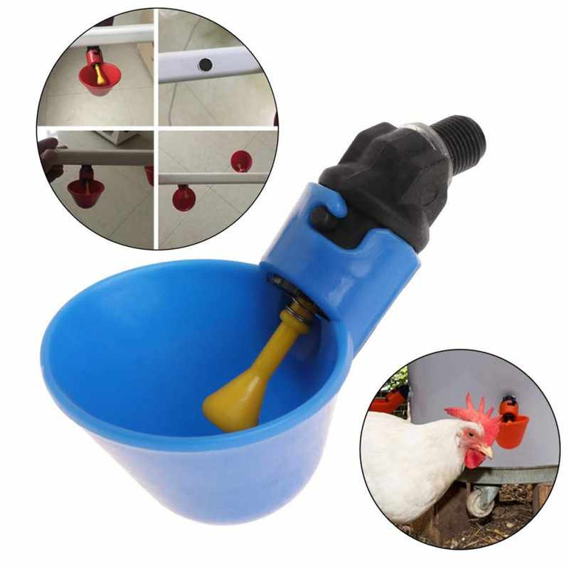 Bird Coop Poultry Chicken Automatic Feeder Water Dispenser Plastic Fowl Drinker Water Drinking Cups Farm Animal Supplies