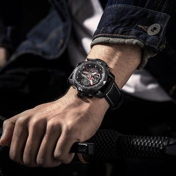 Reef tiger/rt nova chegada todo o preto marca de luxo à prova dwaterproof água relógio pulso aço inoxidável cronógrafo relogio masculino rga3591