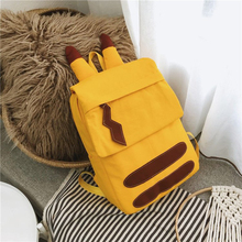 Cute Backpacks Canvas-Bag Pokemon-Plush Yellow Korean-Style Bags Girls Students Children