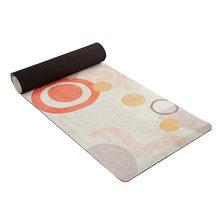 Портативные Нескользящие набивные замшевые коврики для пилатеса, йоги, профессиональное пляжное одеяло из микрофибры для фитнеса