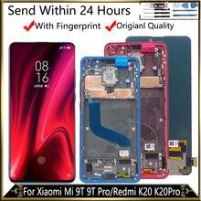 6.39 amoled XiaoMi Mi 9T LCD 디스플레이 용 프레임 디스플레이 Redmi K20 LCD K20 Pro 디스플레이 용 9T Pro LCD 디지타이저 어셈블리