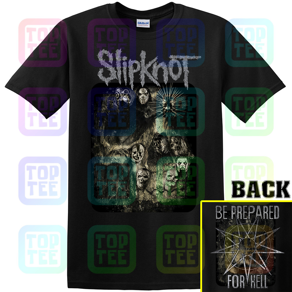 OFFICIAL LICENSED - <font><b>SLIPKNOT</b></font> - SKULL GROUP T SHIRT METAL <font><b>IOWA</b></font> COREY image