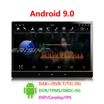 Erisin 8722 12 2 #8222 styl Tesla IPS ekran 2 5D G + G 2-UI PIP Android 9 0 samochód media PX6 Stereo DAB + DSP Carplay OBD2 GPS tanie i dobre opinie CN (pochodzenie) 2 din 4*45W 12 v JPEG metal plastic 1280*800 5 5kg 178mm*160mm*100mm ES8722T english Yes Support 6 core