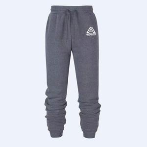 Мужские спортивные штаны с принтом, Зимние Теплые повседневные штаны, облегающие хлопковые спортивные брюки, джоггеры, брюки-карандаш, 2020