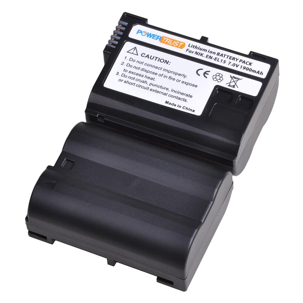 EN-EL15 EN-EL15A EL15A En EL15 Oplaadbare Batterij Voor Nikon D7200 D500 D600 D610 D600E D800 D800E D810 D7000 D7100 D750 v1