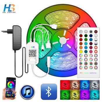 цена на 5050 Led Strip 5M 10M 2835 LED Strip Light led ribbon 15M 20M rgb led diode tape Bluetooth Controller power adapter for Home