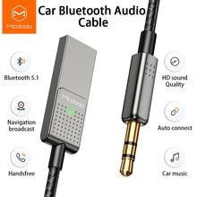 Mcdodo محول بلوتوث للموسيقى الصوتية ، جهاز إرسال 5.0 ، كابل صوت للسيارة ، مقبس 3.5 مللي متر ، كابل Aux ، مكبر صوت