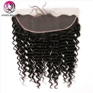 Angelbella 13x4 кружевная Фронтальная застежка NC # бразильские волнистые человеческие волосы фронтальная свободная часть Реми-волосы кружевная ф...