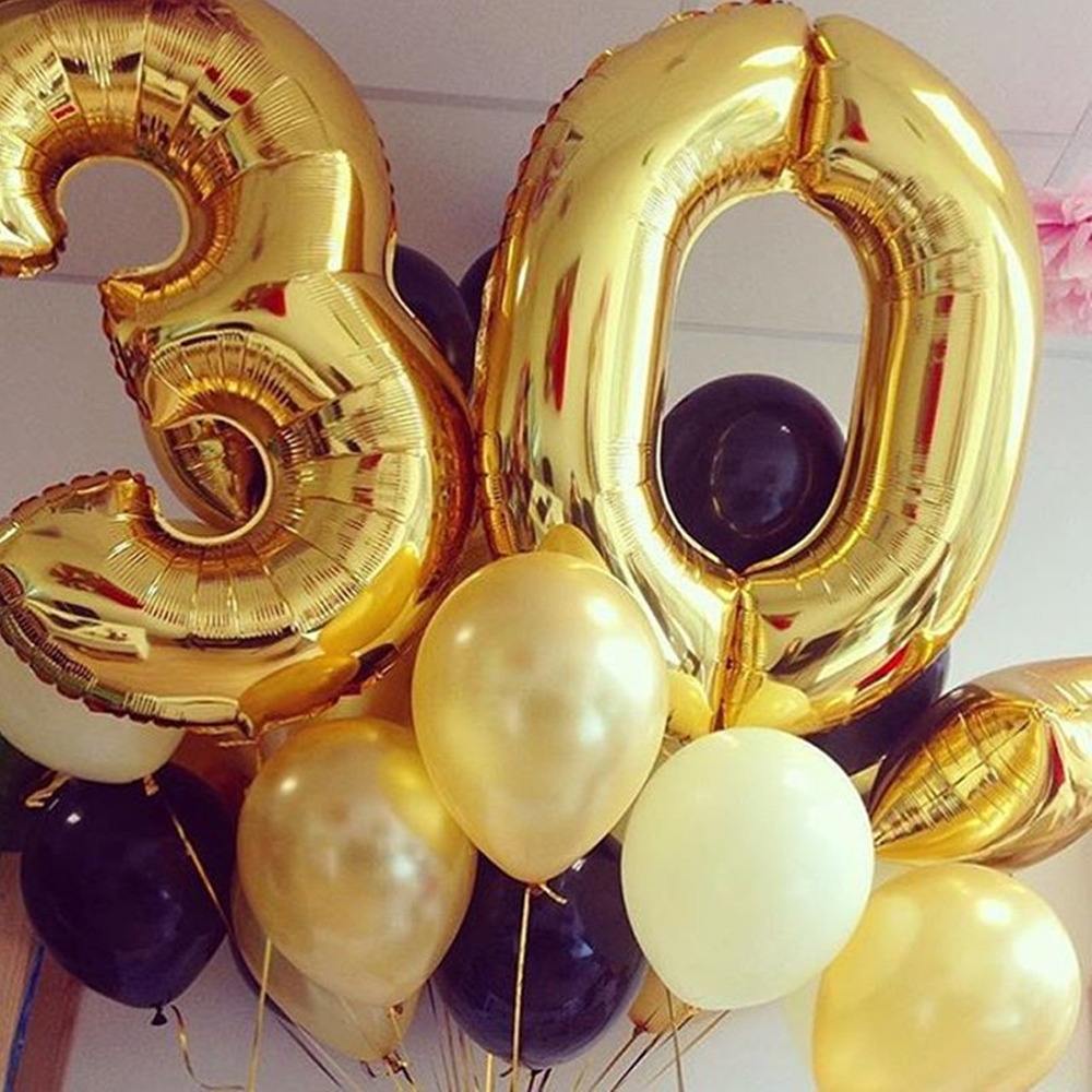 40inch Gold 2019 Balloons Latex Balloons 1cm Gold Confetti for New Year Party Grad Event Anniversary Party Decorations