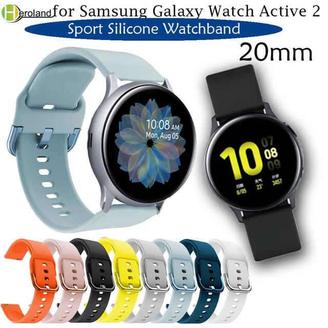 Bracelet de montre 20mm pour Samsung Galaxy montre Active 2 40/44mm Sport silicone bracelets intelligents pour Samsung Gear S2 classique 732 bracelet 1