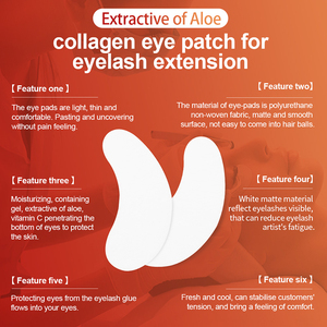 Image 2 - NAGARAKU Eyelash Extension Eye Patches Make Up Eye Pads 100 Pairs Package Under Eye Pads Lint Free Eye Gel Patches