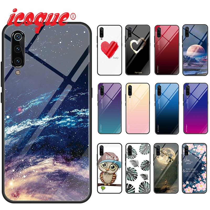 Glass Case For Xiaomi Mi 9t A3 8 A2 Lite Mi9 Mi 9 A1 Mix 3 Redmi Note 7 7a K20 5 Plus 6 Pro Phone Cover Pocophone F1 Luxury Case