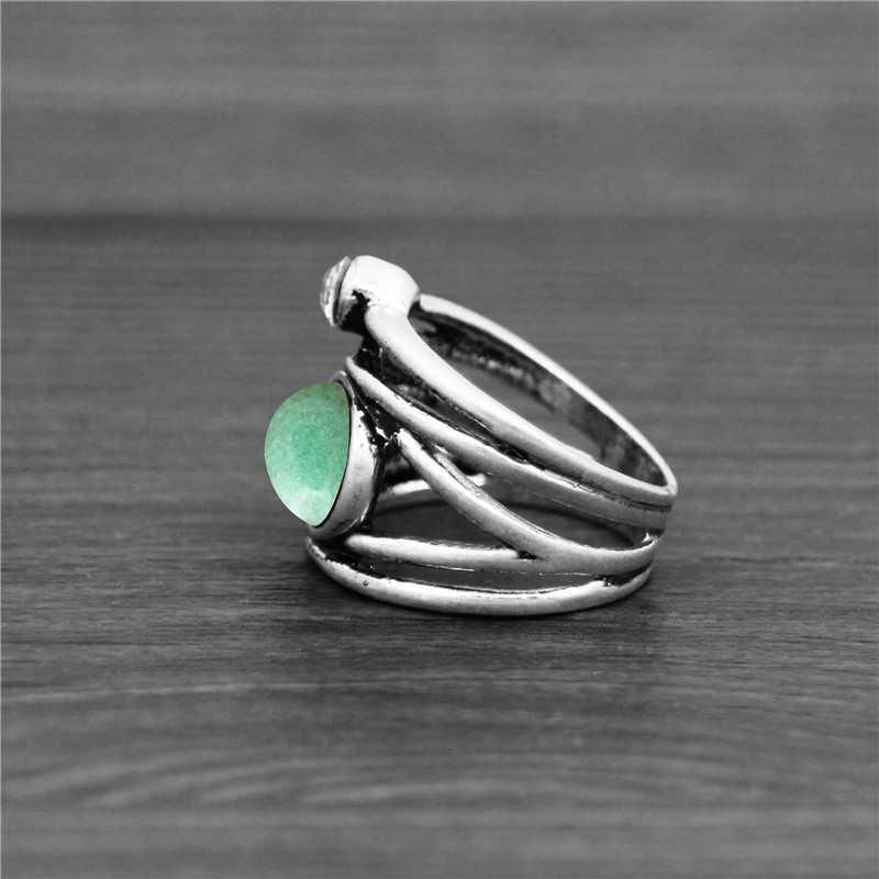 טבעי קוורץ לפיס Jades Amethysts צמח טבעות עבור Womem בציר אופנה נשים טבעת
