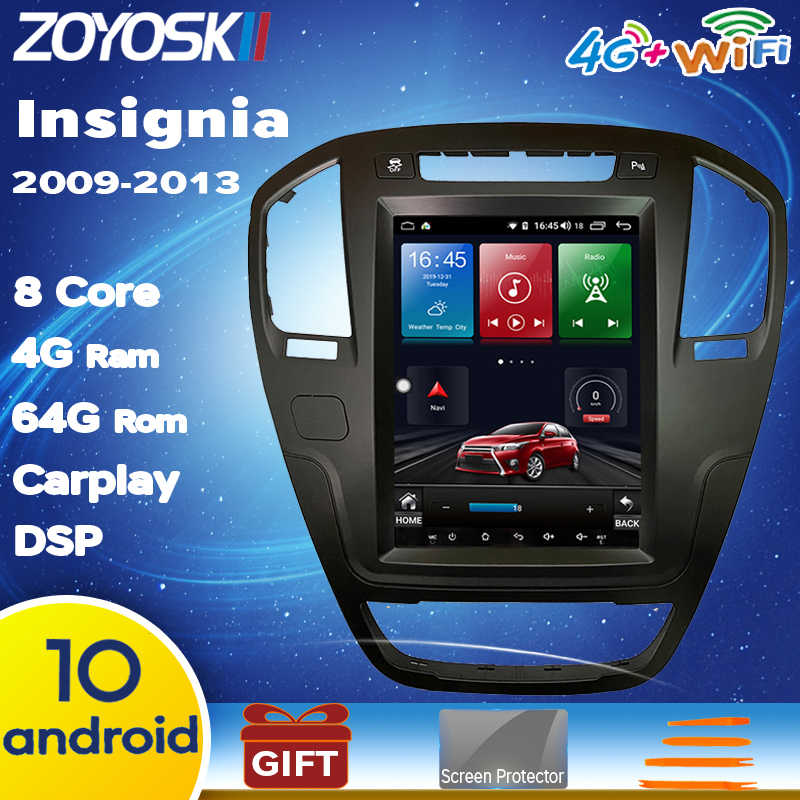 64G rom Android 10 os 10.4 pollici verticale gps per auto lettore multimediale per Opel insignia 2009-2013 carplay