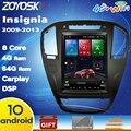 64G rom Android 10 os 10 4 дюйма вертикальный Автомобильный gps мультимедийный плеер для Opel insignia 2009-2013 carplay