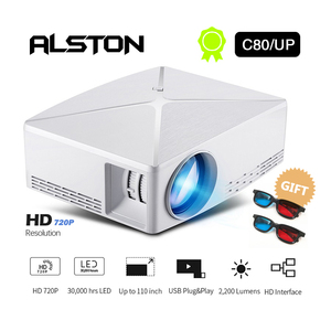 Image 2 - ALSTON HD MINI Projector C80/C80UP, 1280x720 Resolution, Android WIFI Proyector, LED Portable HD Beamer for Home Cinema