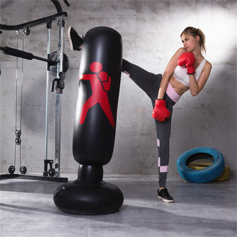Inflatable Fitness Boxing Column Pvc Thickening Tumbler Fight Column Vent Toy Decompression 1.6 Meters High