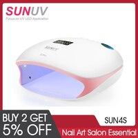 SUNUV SUN4S Nail Lamp 48W UV LED Nail Dryer for Curing Gels Polish With Smart Sensor Manicure Nail Art Salon Equipment Brand New