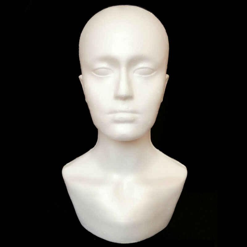 15 cal głowa manekina modele męskie pokaż biust ramię peruki okulary uchwyt na kapelusz sklep wyświetlacz sztuka i rękodzieło do szycia wieszak stojący