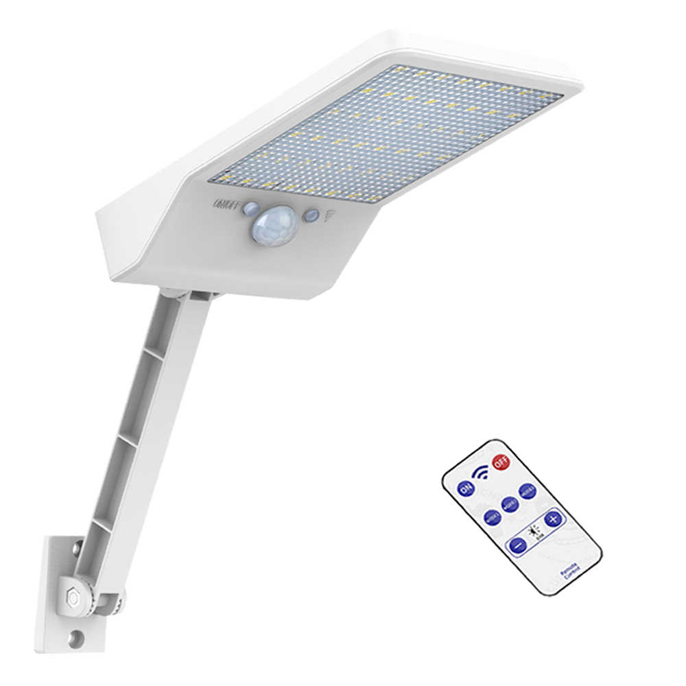 Remote Control 48 LED Solar Power PIR Motion Sensor Light Outdoor Security Wall