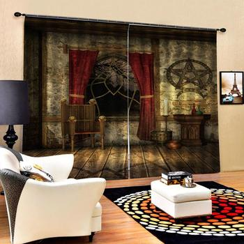 retro curtains 3D Window Curtain 3d print Luxury Blackout For Living Room blackout curtains