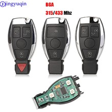 Умный дистанционный ключ jingyuqin для Mercedes Benz 2000 +, поддерживает оригинальные NEC и BGA 315 МГц или 433,92 МГц, 3 кнопки