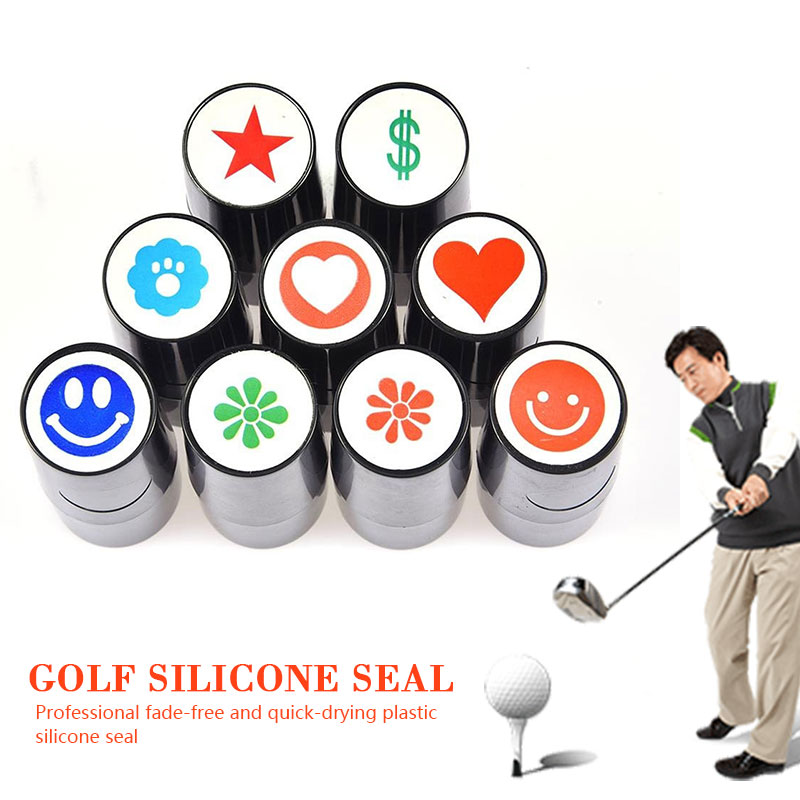 Action Correction Device Silicone Stamp Stamper Golf Ball  Stamper 3 Color Durable Not Fade Sporting Golf Seal Romantic Outdoor