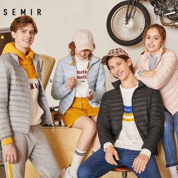 SEMIR 2020 Winter Down Jacket Women Short Jackets New 90 Down Hooded Warm Autumn Slim Coat for Female Casual Tops winter jacket