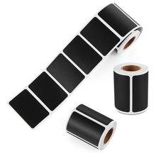 120 pces/rolo apagável blackboard etiqueta artesanato cozinha frascos organizador etiquetas quadro giz placa etiqueta preta
