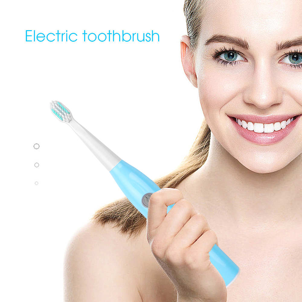 Sonic Electric Toothbrush Adult Timer Brush 5 Mode USB Charger Rechargeable Tooth Brushes Replacement Heads Set
