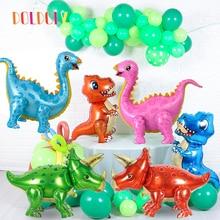 Balloons Jungle Dinosaur-Foil Birthday-Decoration Surprise Party Animal-Part-Supplies