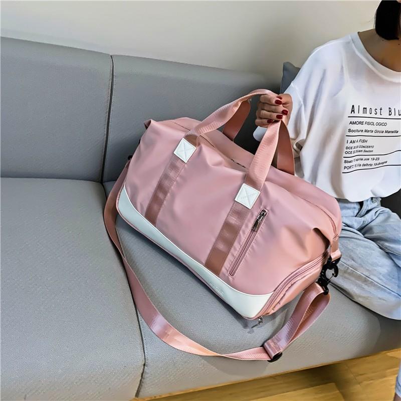 New Women's Sports bag Travel Bags Waterproof Weekend bag Suitcases Handbags Luggage Yoga Shoulder Bags For Gym sac de voyage