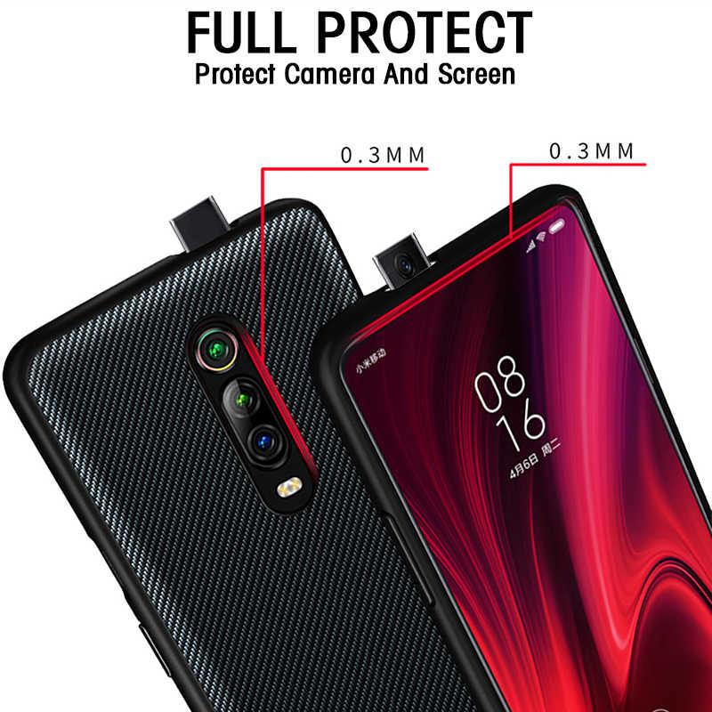 Для Xiao mi Red mi K20 чехол для Red mi K20 Pro Чехол Текстура углерода кожа задняя крышка для Xiaomi mi 9T mi 9T полный противоударный чехол