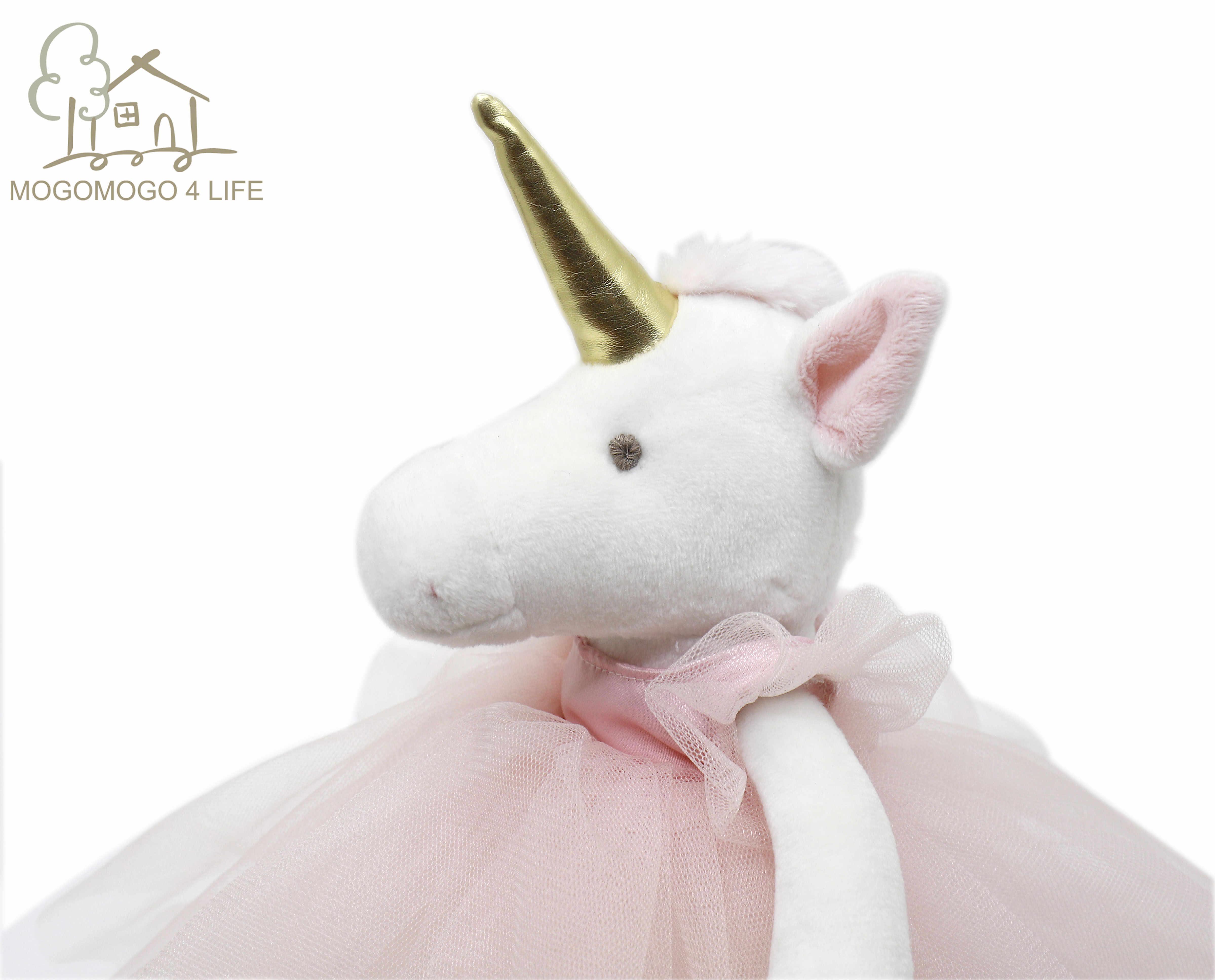Luksusowy Mogo Handmade pluszowy jednorożec zabawka baleriny jednorożec lalka księżniczka jednorożec lalka Super złoty róg koń wypchane zwierzęta