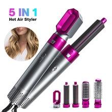 Ar multi funcional 5in1 secador de cabelo pente curling alisamento estilo do cabelo pente alisador modelador ferro ar elétrico