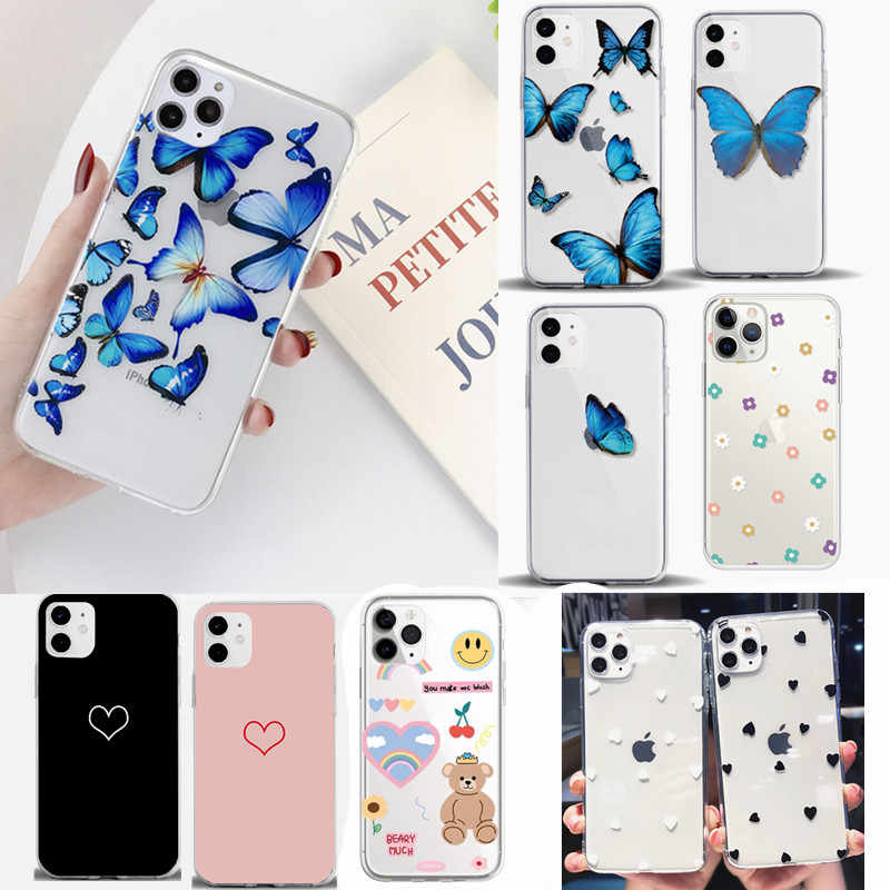 Voor Apple Iphone 11 Case Tpu Voor Iphone X 7 8 Plus 6 S Xs Max Xr 5S Se 2020 11 Pro Luxe Telefoon Case Silicon Fundas Capa Carcasa