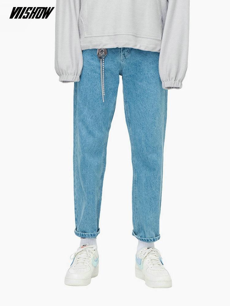 VIISHOW ストリート男性のジーンズオムブランドカジュアルブルージーンズ男性 2019 新固体男性ジーンズウォモため男性 NC1848183  グループ上の メンズ服 からの ジーンズ の中 1