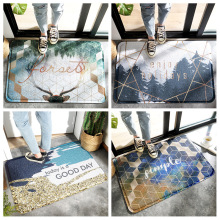 1 PC Bathroom rug set dust removal door mats household wear-resistant anti-friction wire ring hollow non-slip