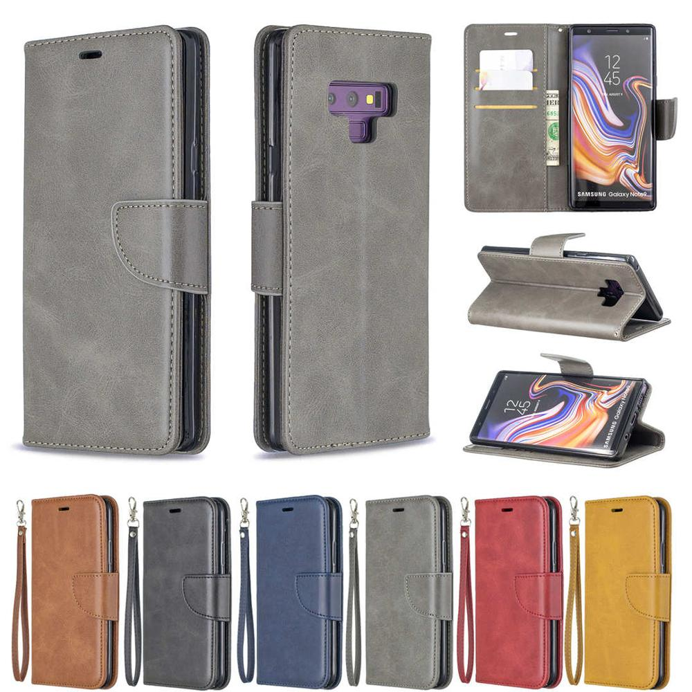 Luxury Flip Leather Phone Case For Samsung Galaxy Note9 Vintage Magnetic Wallet Card Holder Back Cover Coque
