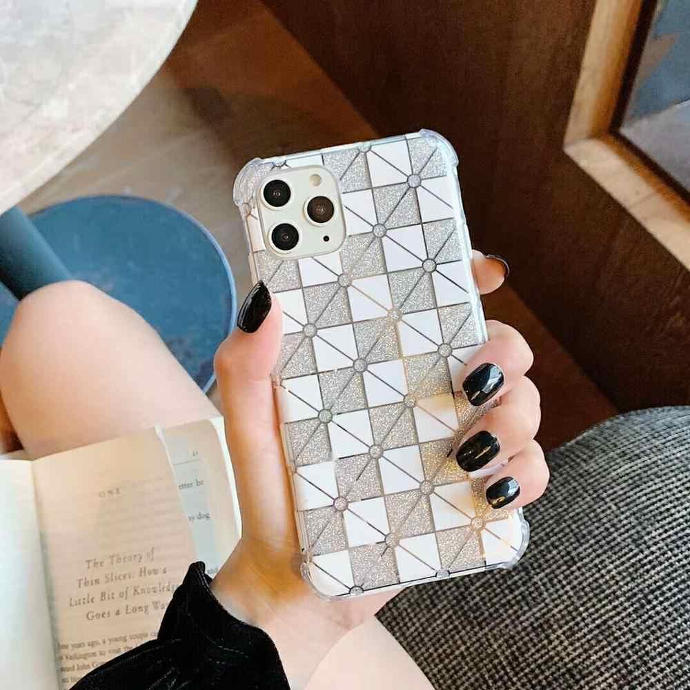 ตาราง Glitter สำหรับ iPhone 11 PRO MAX AIR เบาะเสริมมุมกันกระแทกสำหรับ iPhone X XS MAX 6S 7 8 PLUS 11