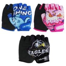 Одна пара, детские дышащие спортивные перчатки с половинным пальцем, противоскользящие для катания на роликах, скутеры, горный велосипед