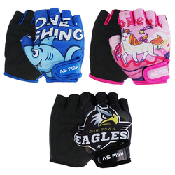 One Pair Kids Children Half-finger Sports Gloves Breathable Anti-slide For Bicycle Roller skate Scooters Mountain Bike