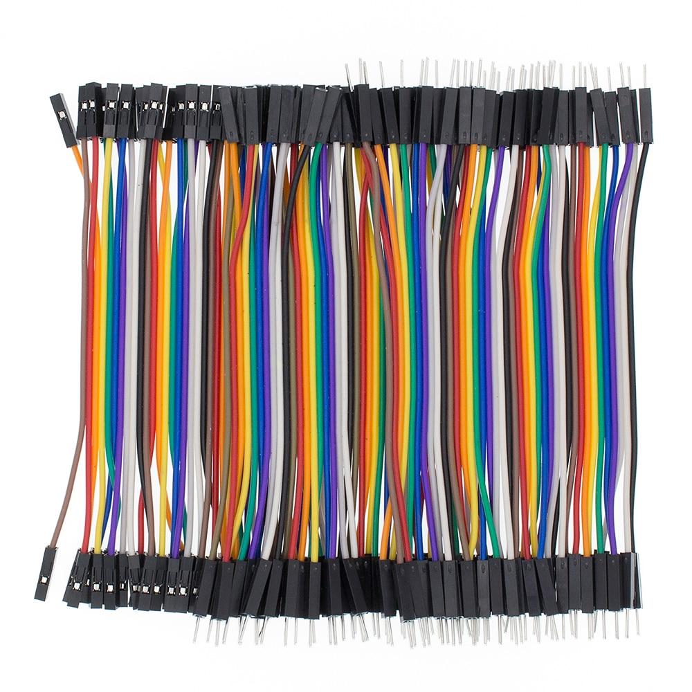 DuPont Kabel DIY Ausrüstung 40 Stück 10 cm Männlich zu weiblich Jumper Neu