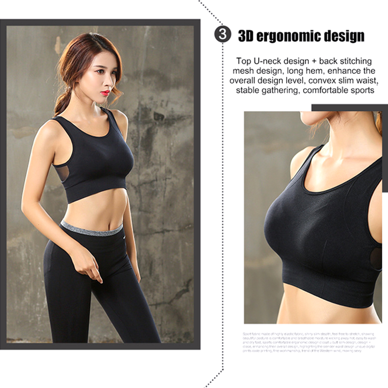 Underwear Women Back-Sports Mesh Quick-Drying Fitness Shockproof Beauty Yoga Low-Intensity