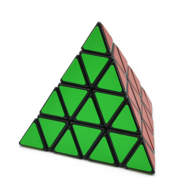 4x4x4 Pyramid Cube Black/Stickerless Magic Cube  95*95*95mm Pyramid Cube 4x4 Puzzle Pyramid Cube Special Toys For Children 1