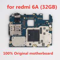 Trabalho completo para redmi 6a 32 gb placa mãe  100% original desbloqueado para redmi 6a 32 gb placas lógicas sem toque id|Motherboards Telefone móvel|Telefonia e Comunicação -