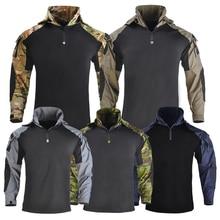 Outdoor Tactical Hunting Fishing Miliatry Uniform Combat Uniform Tactical Equipment for Airsoft Camflouge Fishing Camp Shirt